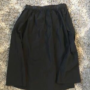 Black Cocktail Mid Skirt